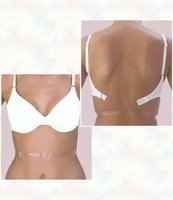 Low Back Bra Converter - Clear 1 Hook