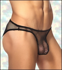 Men's Bikini Fishnet Underwear