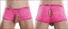 Men's Neon Lace Crotchless Shorts