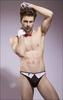 Men's Tuxedo Thong Stripper Costume Set
