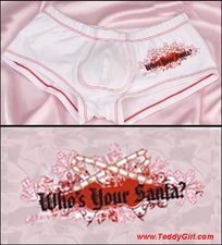 Men's Christmas Shorts Who's Your Santa?