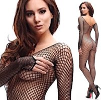 Miss O Luxury Medium Fishnet Bodystocking