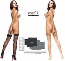 Miss O Stockings Stay Up Triple Band Tops