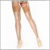 Miss O Stockings Shimmer with Back Seam