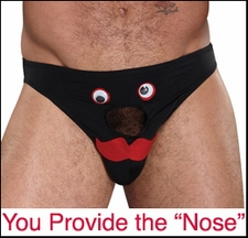Novelty Bikini Underwear - Mr Dick Nose