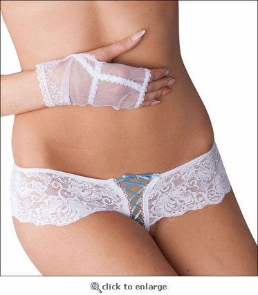 Crotchless Panty for Brides White & Something Blue