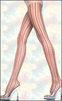 Pantyhose Patterned Two-Tone Plaid
