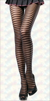 Pantyhose with Opaque & Sheer Stripes