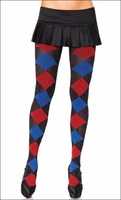 Patterned Pantyhose Argyle Multi Color Tights
