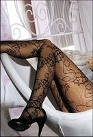 Patterned Tights Floral Lace Net