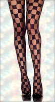 Patterned Pantyhose Sheer & Opaque Checkers