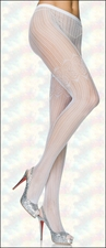 Patterned Pantyhose White Crochet