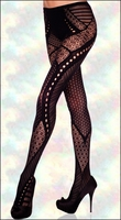 Patterned Tights Lace Patchwork
