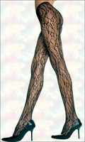 Patterned Tights Floral Seamless Net Lace