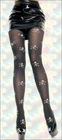 Patterned Tights Skull & Crossbones