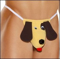 Men's Pet My Puppy Novelty G-String