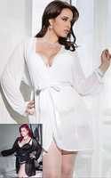 Plus Size Sheer Robe from Coquette