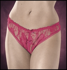 Plus Size Crotchless Panties in Lace
