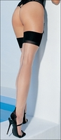 Plus Size Cuban Heel Seamed Stockings