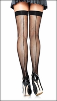 Plus Size Fishnet Backseamed Stockings