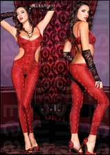 Bodystocking Footless Python Print