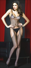 Queen Size Bodystocking Fishnet Suspender