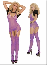 Queen Bodystocking with Halter Neckline & Suspender Styling