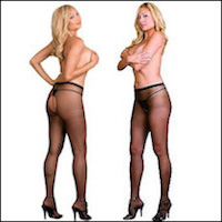 Queen Crotchless Pantyhose Diamond Series