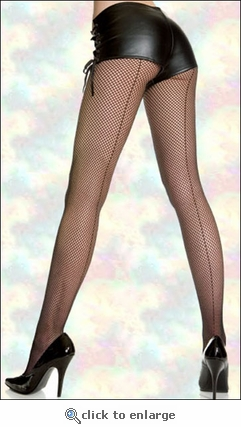 Queen Fishnet Pantyhose with Backseam