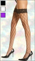 Queen Size Stockings Fence Net with Lace Top