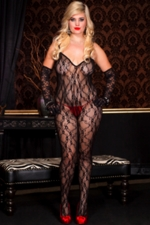 Queen Size Bodystocking Romantic Lace #1875Q