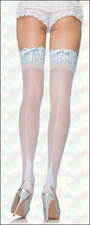 Plus Size Bridal Thigh High Backseam & Corseted Lace Tops