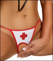 Queen Size Crotchless Panty Head Nurse