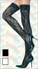 Queen Size Lace Stockings Thi-High