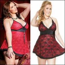 Queen Size Reversible Chemise Two Looks in One
