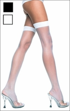 Queen Size Stockings Sheer Thi-Hi