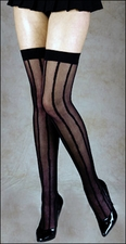 Queen Stockings with Stripes