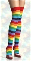 Rainbow Over the Knee Stocking