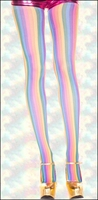 Rainbow Stripes Patterned Pantyhose