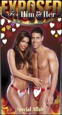 Tuxedo Thong Set in Red for Him & Her