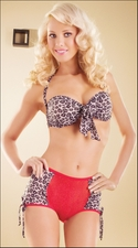 Retro Style Lingerie Set Wild Nights Leopard