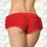 Plus Size Ruffled Panties