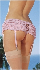 Ruffled Panty Garters & Stockings