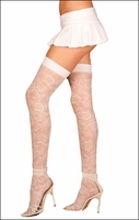 Stockings White Lace Thigh Highs
