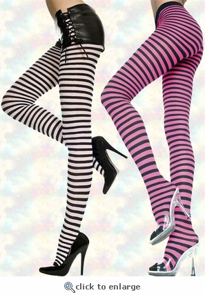 Striped Tights in Queen Size