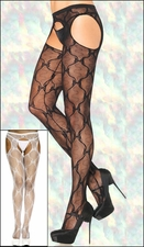 Suspender Pantyhose Lace & Bows