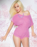 Romper Teddy Playful Pink