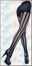 Tights Patterned Vertical Stripes