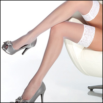XL Lace Top Stockings for Brides