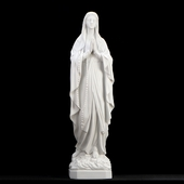 "26"" Italian White Lady of Lourdes Statue"